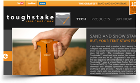 toughstake website screen grab